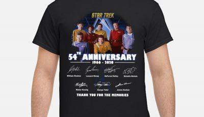 Star Trek 70th Anniversary Signature Thank You For The Memories Shirt