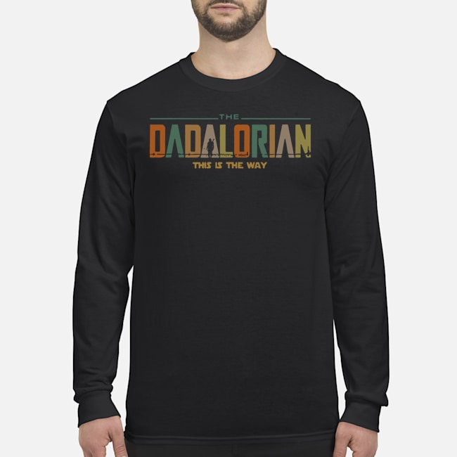 Star Wars The Dadalorian This Is The Way Vintage Long-Sleeved