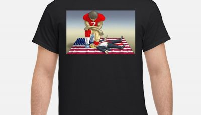 Colin Kaepernick Kneeling On Trump Head Shirt