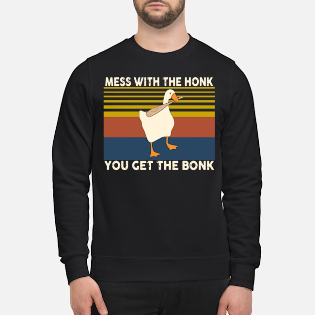 Duck Mess With The Honk You Get The Bonk Vintage Sweater