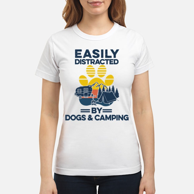 Easily Distracted By Dogs And Campers Vintage Ladies