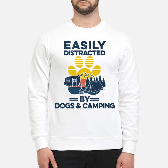 Easily Distracted By Dogs And Campers Vintage Sweater