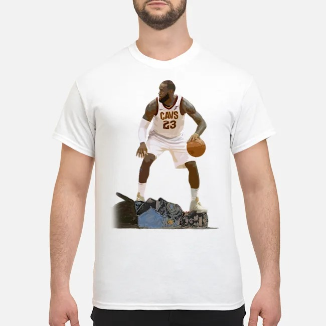 LeBron James kneeling on the neck Police Shirt