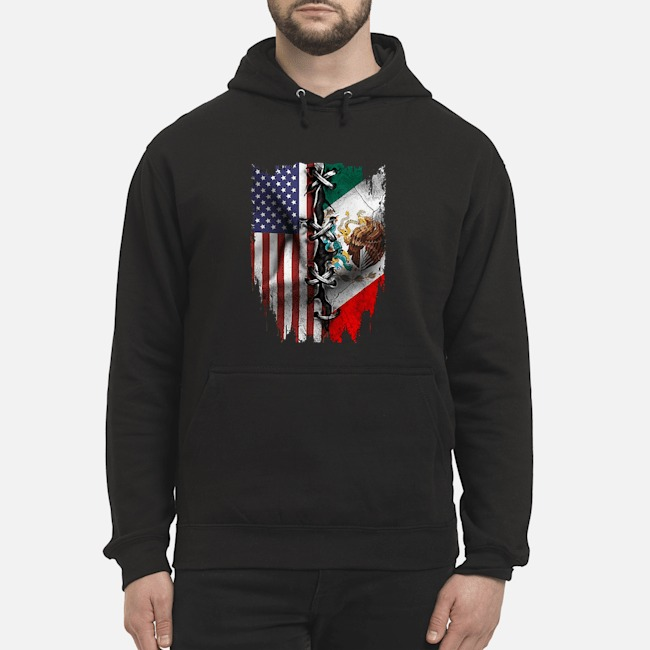 Mexican And American Flag Hoodie