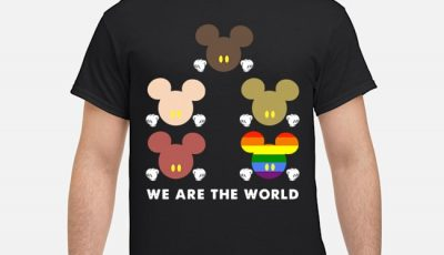 Mickey Mouse Lgbt We Are The World Shirt