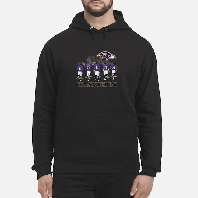 Player Name Baltimore Ravens Legends signatures Hoodie