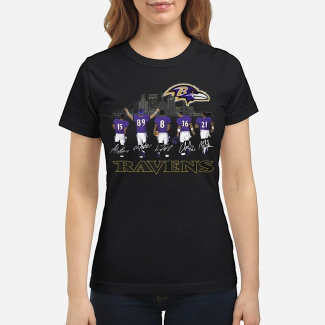 Player Name Baltimore Ravens Legends signatures Ladies