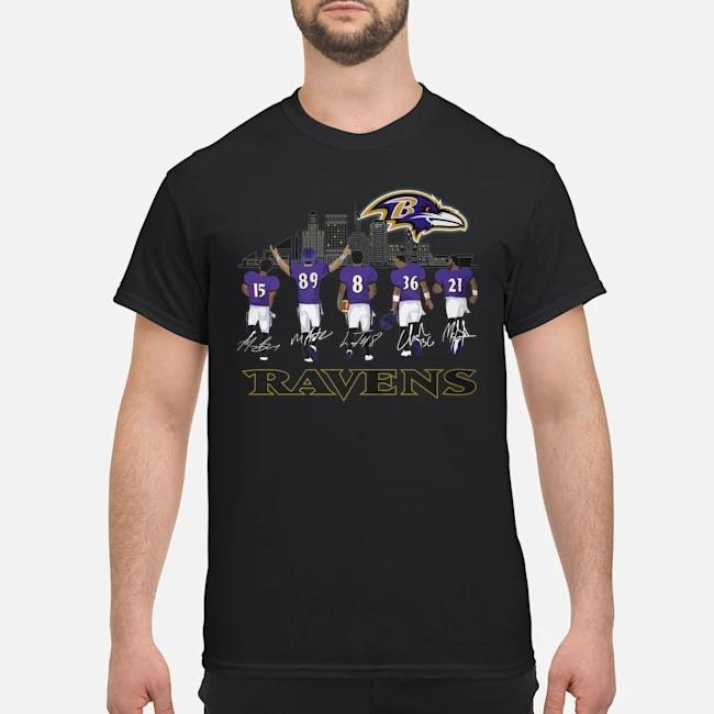 Player Name Baltimore Ravens Legends signatures shirt