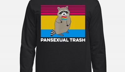Raccoon Pansexual Trash Vintage Long-Sleeved