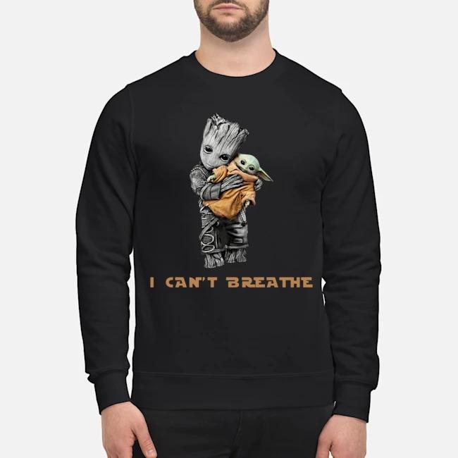 Star Wars Groot Hug Baby Yoda I Can't Breathe Sweater