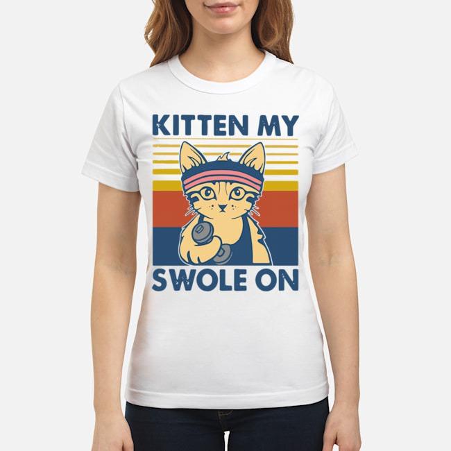 Strong Cat Kitten My Swole On Vintage Ladies