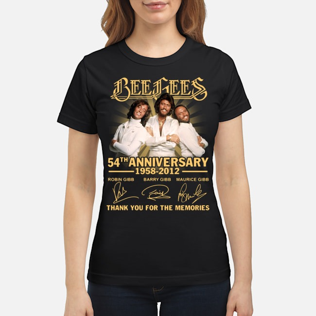 Bee Gees 54th anniversary 1958 2012 thank you for the memories signatures Ladies