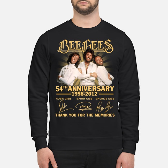 Bee Gees 54th anniversary 1958 2012 thank you for the memories signatures Sweater