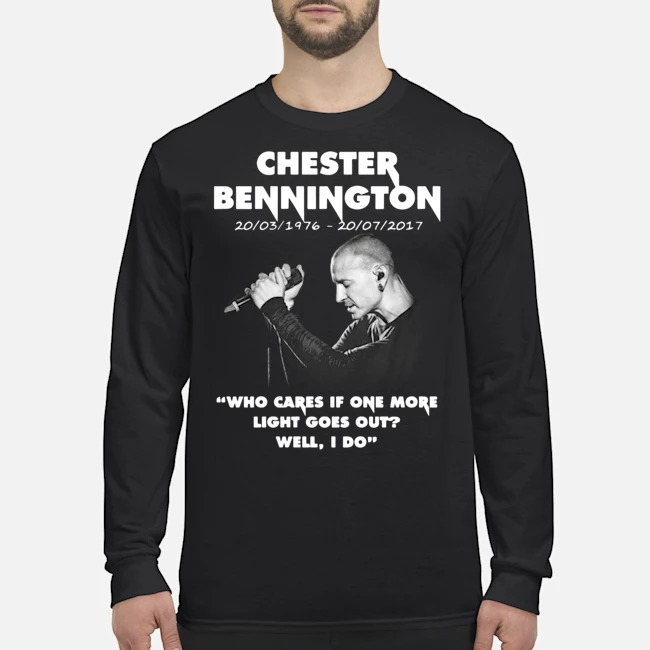 Chester Bennington Who Cares If One More Light Goes Out Long-Sleeved