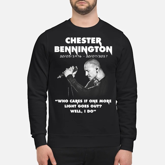 Chester Bennington Who Cares If One More Light Goes Out Sweater