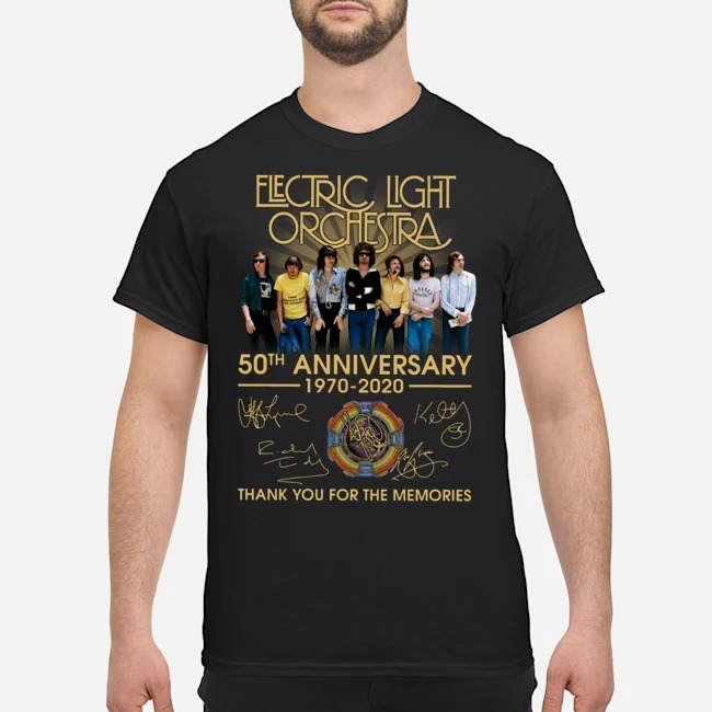 Electric Light Orchestra 50th Anniversary 1970-2020 Signatures Thank You For The Memories Shirt