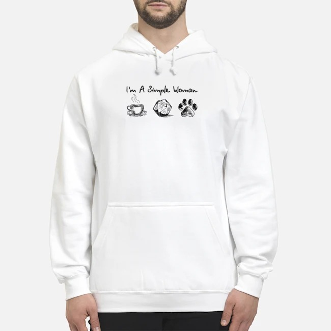 I'm a simple woman coffee dungeon and paw Hoodie