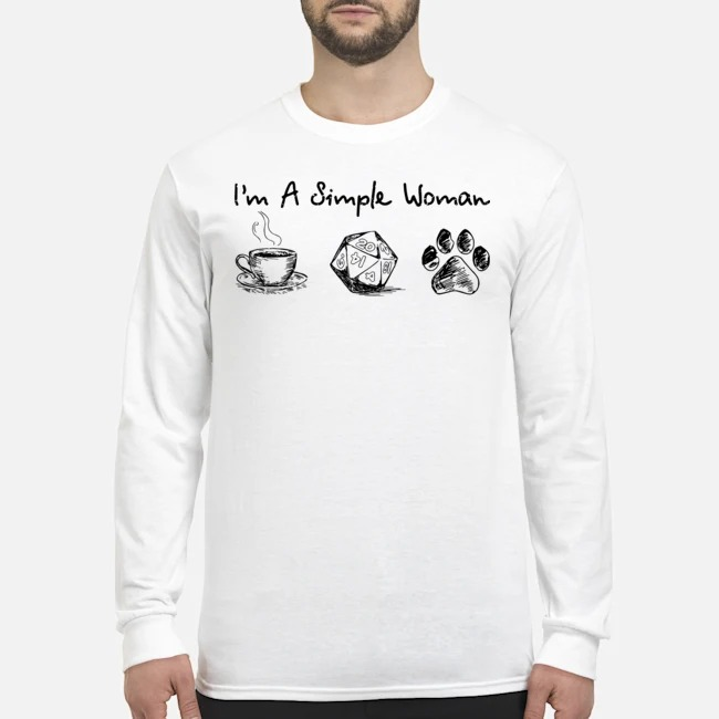 I'm a simple woman coffee dungeon and paw Long-Sleeved