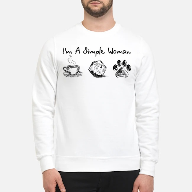 I'm a simple woman coffee dungeon and paw Sweater