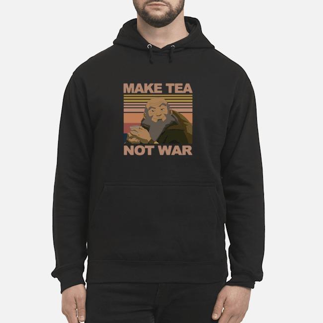 Official Make Tea Not War Avatar Iroh Vintage Hoodie