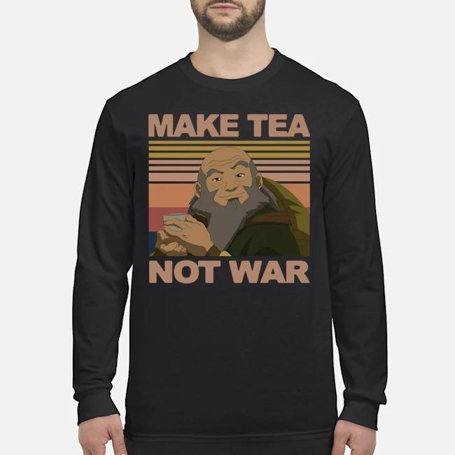 Official Make Tea Not War Avatar Iroh Vintage Long-Sleeved