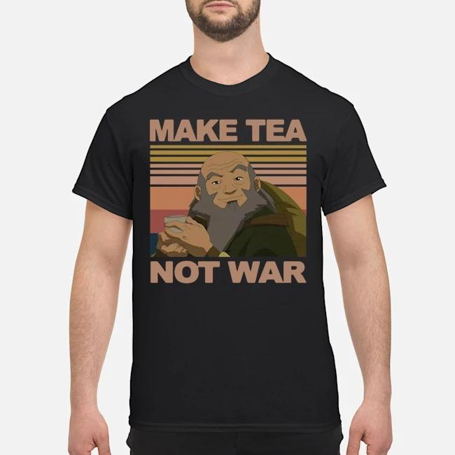 Official Make Tea Not War Avatar Iroh Vintage Shirt