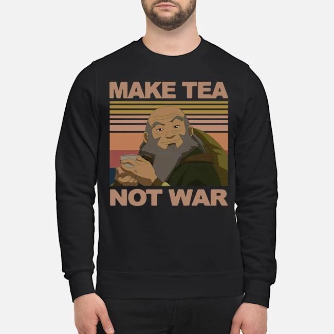 Official Make Tea Not War Avatar Iroh Vintage Sweater