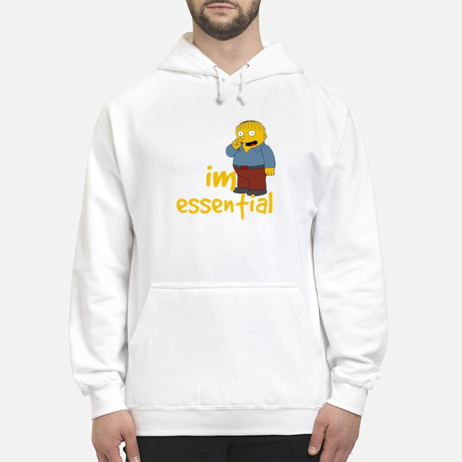 Official Ralph Wiggum Picking Nose I'm Essential Hoodie