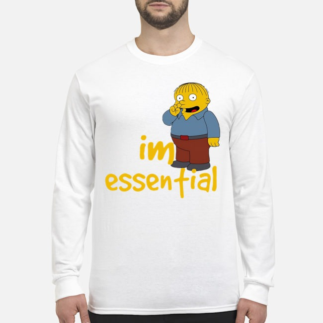 Official Ralph Wiggum Picking Nose I'm Essential Long-Sleeved