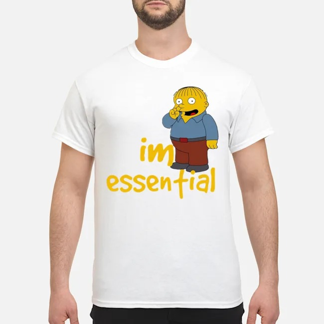 Official Ralph Wiggum Picking Nose I'm Essential Shirt