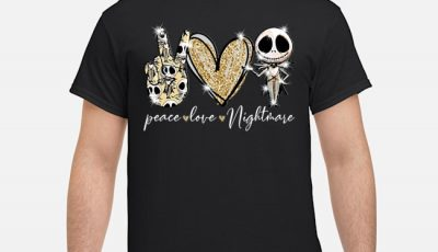 Peace love nightmare Skellington diamond shirt