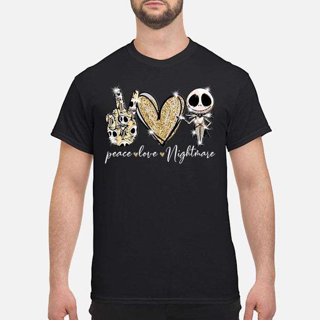 Peace love nightmare Skellington diamond shirt