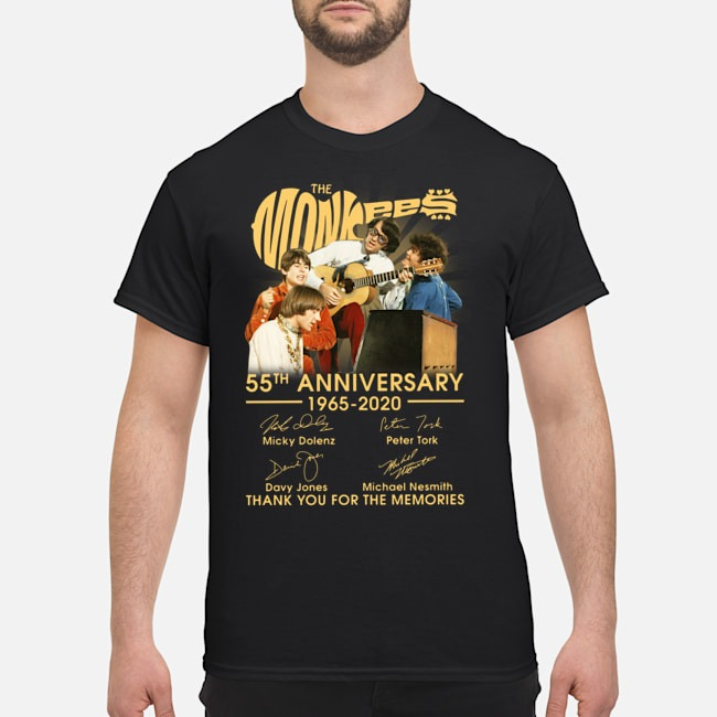 The Monkees 55th Anniversary 1965 2020 Thank You For The Memories Signatures Shirt