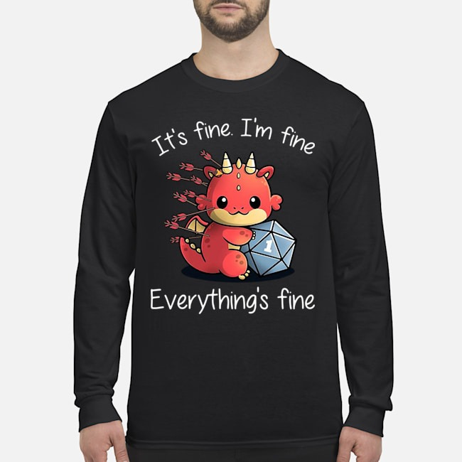 Dungeons and dragon it's fine i'm fine everything's fine Long-Sleeved