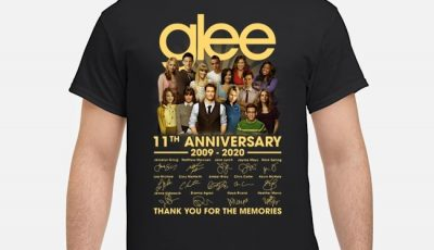 Glee 11th anniversary 2009 2020 signatures thank you for the memories shirt