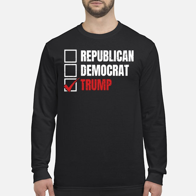 Republican Democrat Trump Long-Sleeved