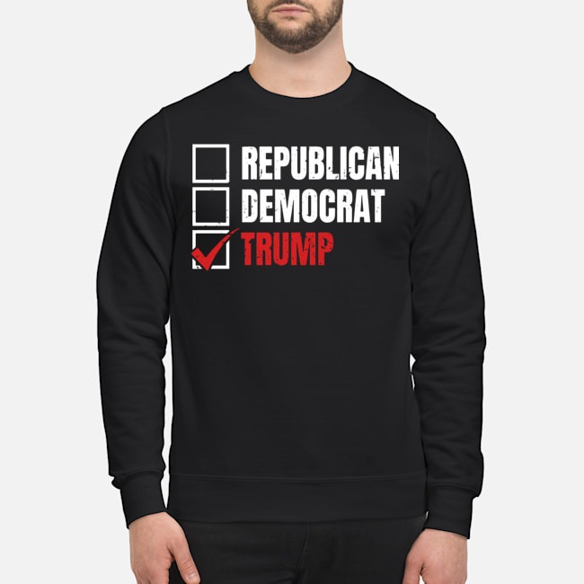 Republican Democrat Trump Sweater