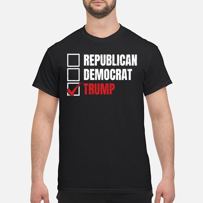 Republican Democrat Trump shirt